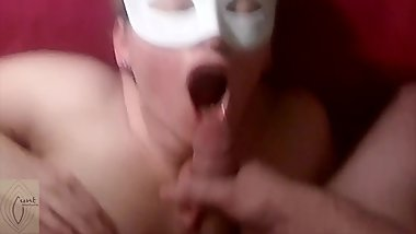 Cum to mouth of amateur mature submissive wife. Compilation