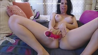 Shaking Orgasm and SQUIRTING with Fast Dildo Masturbation