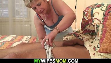 Horny mother in law wakes him up for taboo cock riding