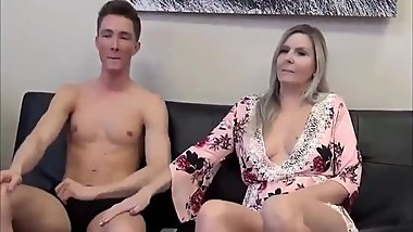 Taboo! Stepson with monster cock cums inside his mature stepmom