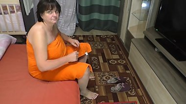 Anal sex in big ass stepmom and son. Mature woman sucks young dick real