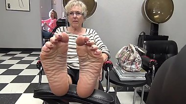 Blonde Granny Perfect Feet Soles