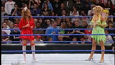 WWE Divas Torrie Wilson vs Dawn Marie in a Costume Contest w/ Catfight