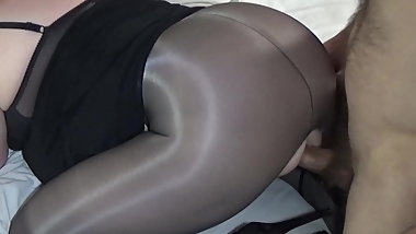 Pantyhose covered ass