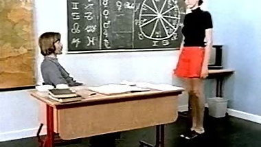 Horny older teacher lesson fucking for teens in classroom
