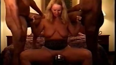 Mature Wives Alice and Darrien Interracial Orgy
