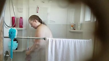 Ugly wife taking a shower part 1 of 2 (2-28-2018)