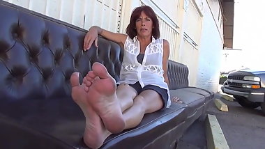 52 year old mature dirty feet