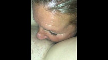 Whore wife licks a pussy to orgasm