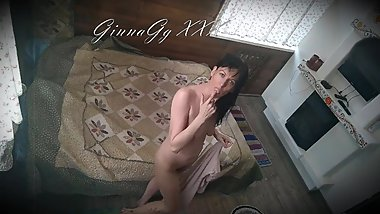 village woman fingering her hairy pussy and getting an orgasm - GinnaGg