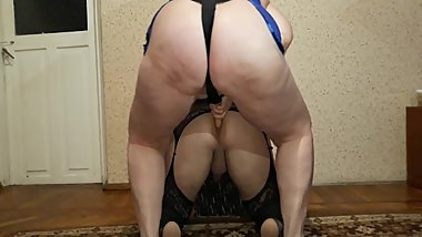Dominant mom punishes strapon son for poor grades. Femdom
