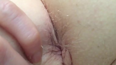 Jewish GILF Up Close Examination of Hairy Pink Asshole & Tight Hairy Pussy
