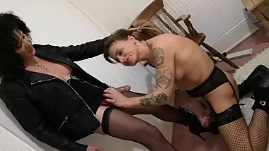 ts celine scews and makes younger ts nicole castelli cum