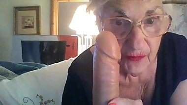 Sexy toys and sexy lingerie for granny Patty