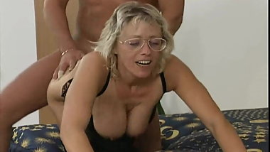 German granny double fucked