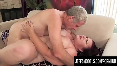 Jeffs Models - Flawless Mature Plumper Lady Lynn Taking Cock Compilation 3