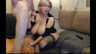 Sexy mature wife in stockings gets rough used by her boss on vacation