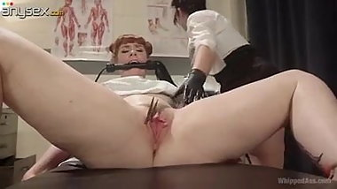 Lesbian Gynecologist strap-on patient Barbary Rose!