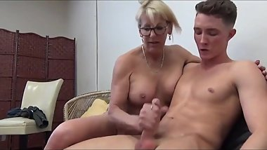 Shameless mature MOM having fun with young boy