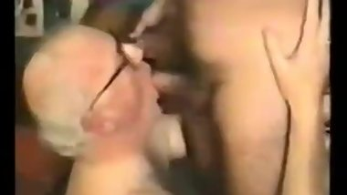 Threesome with mature men - Classic video