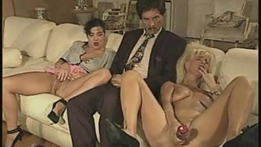 Classic Vintage german family dildo piss cums together film
