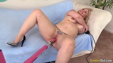 Golden Slut - Mature Women Vs Fucking Machines Compilation 6