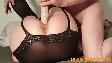 Married wife likes to be used by her husband as a sex toy making porn