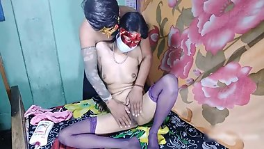 Indian Mother Sex with StepCousin in Yellow Petticoat