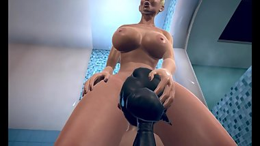 The Twist Xtreme story 3D Janice and Julia in the shower 2