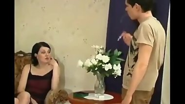 Horny mature MOM with young man