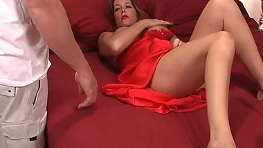 Rachel Steele - Late night surprise fingering her while napping