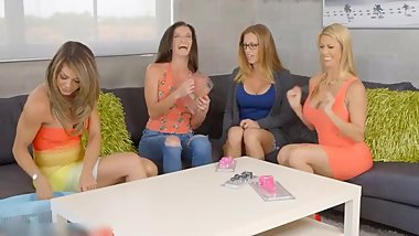 4 MATURE MILFS SHARE ONE DICK