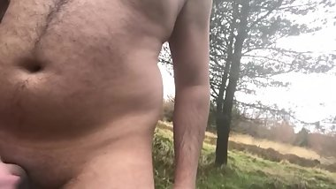 Muslim Virgin Strips Nude In Forest and Cums Hard With Pee (CAUGHT AT END)