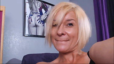 Cougar Harley abuses adult toys while alone at home