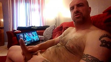 British mature bloke wanks to granny porn 3