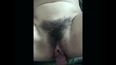 Fucking hairy pussy with big lips