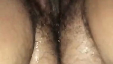 Bbw Hairy Fat Mom Wife gushes all over her wand