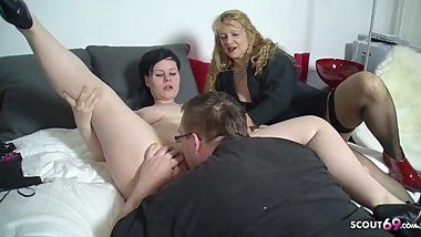 BBW Teen Teach to Fuck from Mature Step Mom with Ugly Friend