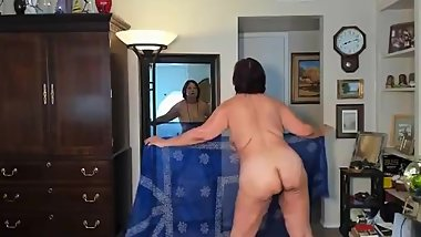 Sexy Sensual Mature Latina Woman dancing  with a scarf (Patreon zilahluz)