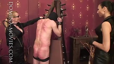 Two mature mistress slave humiliation