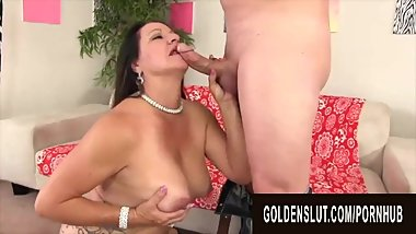 Golden Slut - Brunette Mature Beauty Leylani Wood Compilation Part 2