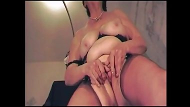 Breasted grandma show her body and talk dirty