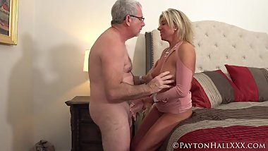 Hot mature couple get it on