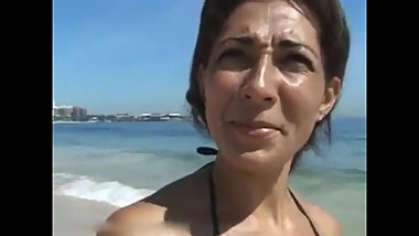 Brazilian MILF Sucks and Fucks