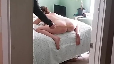 Wife Gets Her Ass Spanked