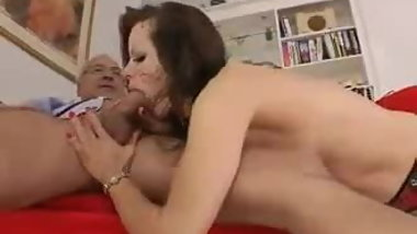 Sexy Blowjob And Handjob With Red Nails