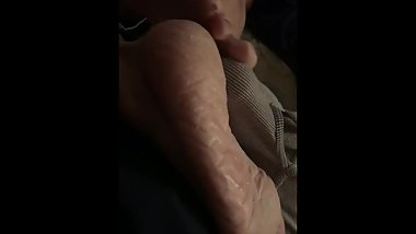 Mature footjob tease