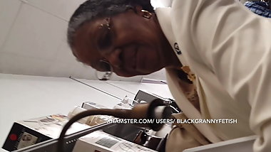 Single Sexy Black Church Granny Upskirt