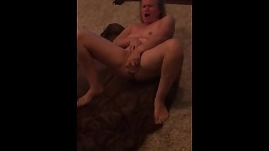 Naughty blonde milf  loves masturbating