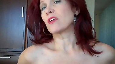 Sexy redhead mature MOM gets her pussy filled up with cum